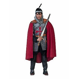 Costume homme rouge hommes Costume de Chevalier Saint-Unis Costume homme