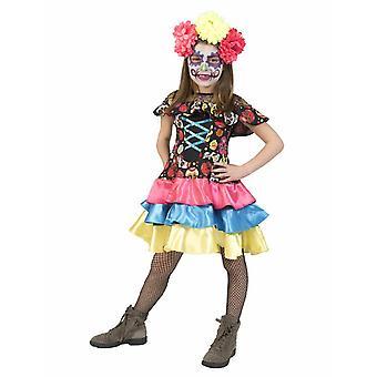Day of the Dead Girl Costume Carnival Muerto Mira Costume Kids Carnival Halloween Children Costume