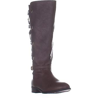 Thalia Sodi TS35 Veronika Wide Calf Riding Boots, Cognac