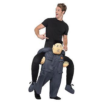 Mens piggyback koreanska diktator fancy Dress kostym