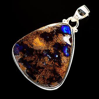 Boulder Opal 925 Sterling Silver Pendant 1 3/4