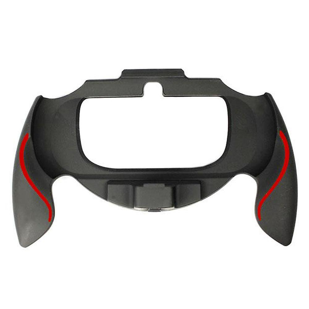 Soft touch controller grip handle attachment for sony ps vita 1000 & red & black