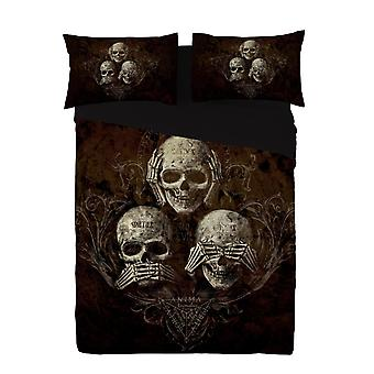 Alchemy - no evil - duvet and pillows covers set / uk king / us queen