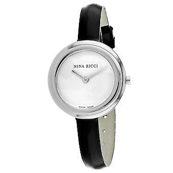 Nina Ricci Damen's klassische weiße Zifferblatt Uhr - 42500WB