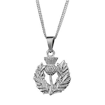"Scottish Thistle - Flower of Scotland Necklace Pendant - Includes 20"" Chain"