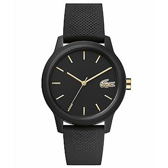 Lacoste 2001064 Women's 12.12 Black Silicone Wristwatch