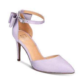 Material Girl Womens Pamer Suede Pointed Toe Ankle Strap Classic Pumps