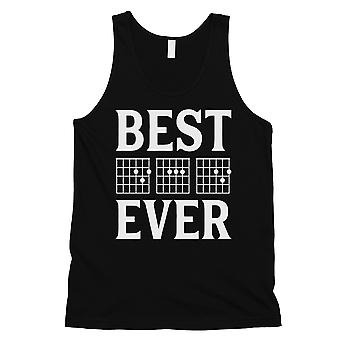 Best Dad Ever Guitar Chord Mens Black Thoughtful Fun Sleeveless Top