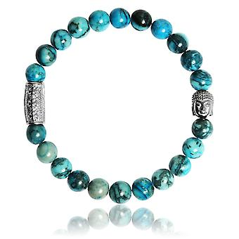 Lauren Steven Design ML073 Bracelet - Natural Stone Stone Blue Men's Bracelet
