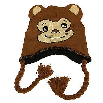 Barna gutter nyhet dyr ansikt Peru stil Beanie varm Thermal vinter lue Monkey