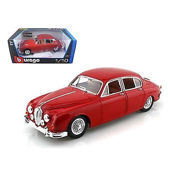 1959 Jaguar Mark II Red 1/18 Diecast Car Model par Bburago