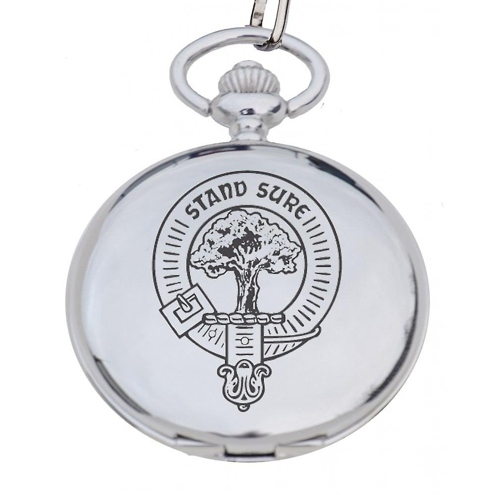 Art Pewter Hunter Clan Crest Pocket Watch