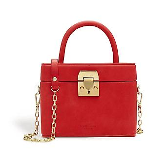 Mae Red Satchel Vegan Cross Body Bag