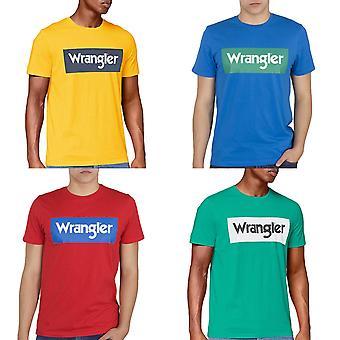 Wrangler Mens SS Logo Cotton Short Sleeve Crew Neck Casual T-Shirt Top Tee