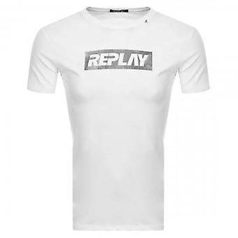 Reproduzir logotipo imprimir camiseta branca M3017