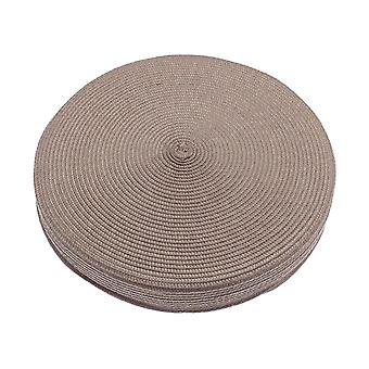 Alfresco Woven Circular Seat Pad, Brown