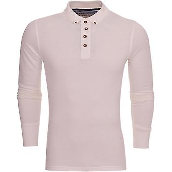 Brave Soul Mens High Quality-Long Sleeved-, Cotton Pique Polo T-Shirt Polo Collared Top