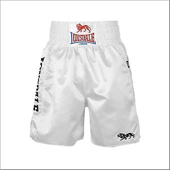 Lonsdale pro large logo trunks - white & white