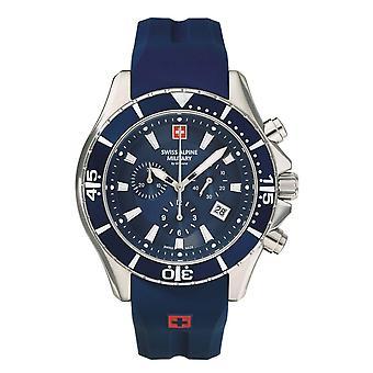 Swiss Alpine Military Men's Watch Chronograph Analog Quartz 7040.9835SAM Siikon