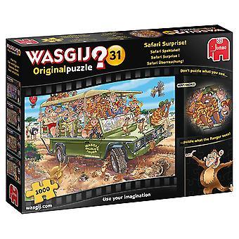 Wasgij Original 31-Safari overraskelse 1000 brik puslespil