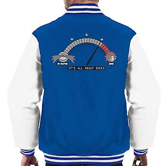 Sonic The Hedgehog Its All About Speed Men's Varsity Jacket