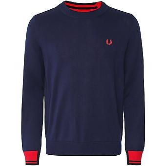 Fred Perry Abstract Tipped Crew Neck Jumper K8522 266