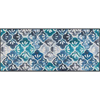 laváro+seco capacho Azul Terra 60 x 140 cm de mat de cozinha lavável
