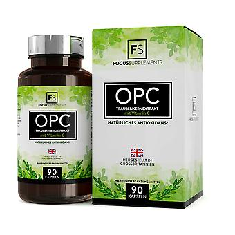 Grapeseed Extract (OPC) with Vitamin C (300mg) 90 Capsules