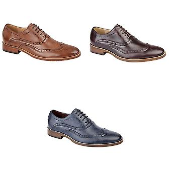 Goor Mens 5 Eye Wing Capped Oxford Brogues