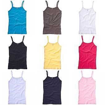 Bella + Canvas Womens/Ladies Baby Rib Spaghetti Strap Tank Vest Top