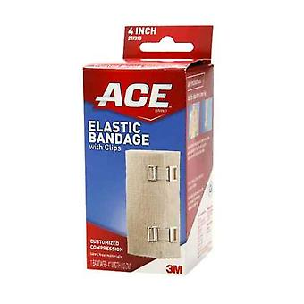 3m ace brand elastic bandage with clips, 4 inch, 1 ea