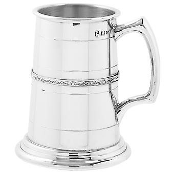 Celtic Band Heavy Gauge Pewter Tankard - 1 Pint +