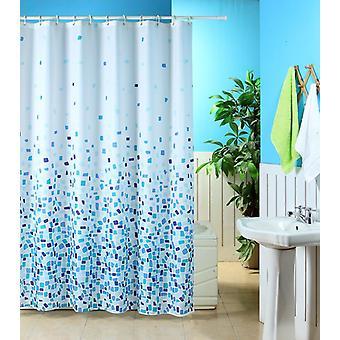 Mosaik-Muster aus Polyester Dusche Vorhang 180 x 180cm