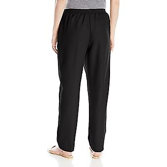 Alfred Dunner Women's Poly Proportioned Medium Pant, Black, 16, Black, Size 16.0