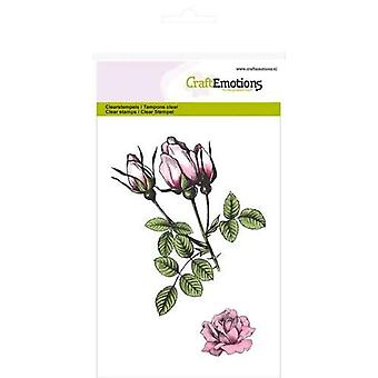 CraftEmotions Clear Stamps A6 - roses bud Botanical