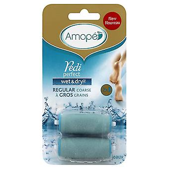 Amope pedi perfect wet & dry foot file refills, regular coarse, 2 ea