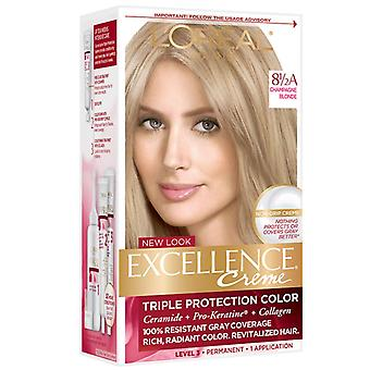 L'Oreal paris excellence creme hårfarge, blonde 8 1/2, 1 sett