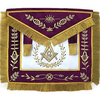 Masonic grand lodge master mason apron bullion hand embroidered