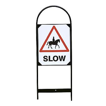 Stubbs Horse Slow Sign Set (Set Of 2)