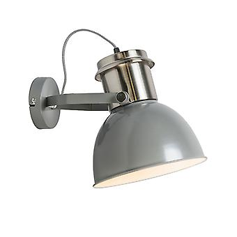 QAZQA Industrial wall lamp gray - Industrial