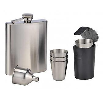 7 Pcs Design Stainless Steel Hip Flask Set Flask