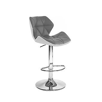 Set of 2 Spyder Contemporary Adjustable Barstool - Modern Comfortable Adjusting Height Counter/Bar Stool (White/Gray)