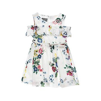 Alouette Girls' Dress With Floral Motion And Belt