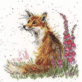 Bothy Threads Cross Stitch Kit - Joukossa Foxgloves