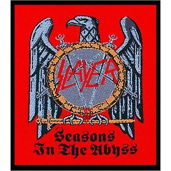 Slayer Patch saisons de The Abyss aigle Logo officiel New tissé (10 cm x 10 cm)