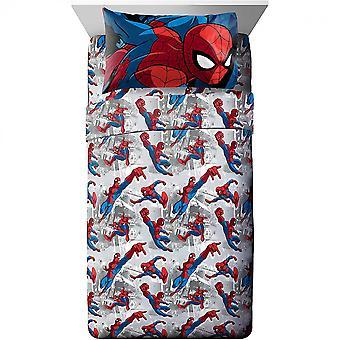 Amazing Spider-Man 3-osainen Twin Sheet Set Vuodevaatteet