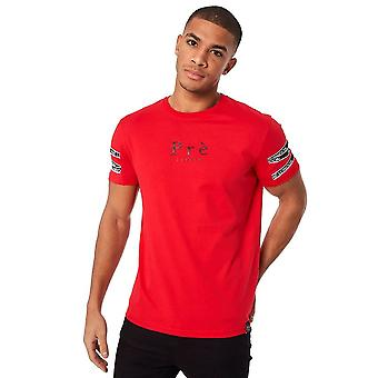 Pre London | Pre Vichy Cross Tape Half Sleeve T-shirt