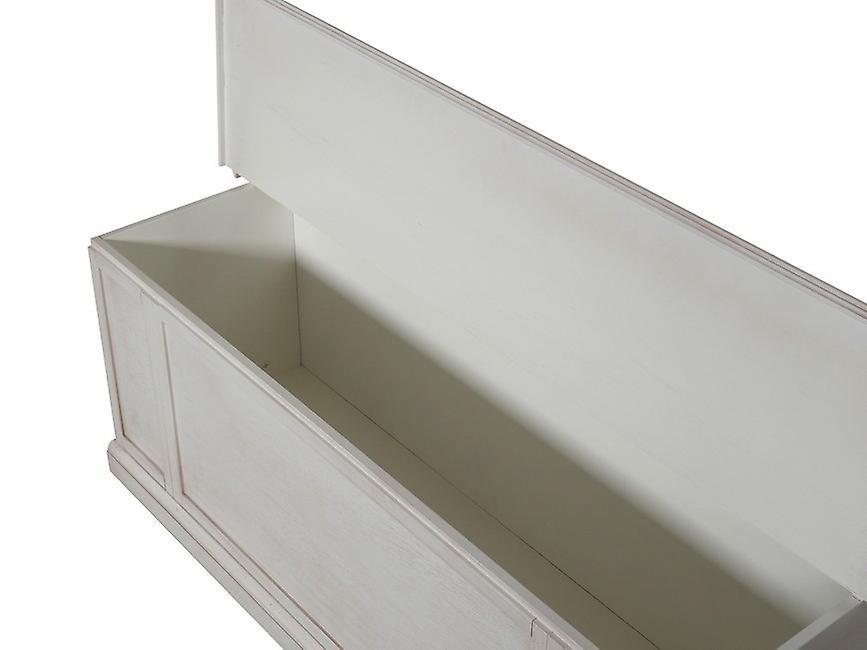 Cassapanca Helene Colore Bianco in Legno, L100xP35xA45 cm
