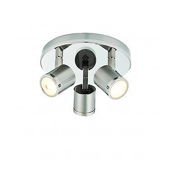 Oracle Ceiling Light, Nickel, 3 Bulbs
