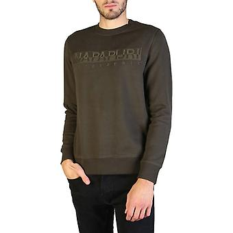 Man cotton long sweatshirt round t-shirt top n22839